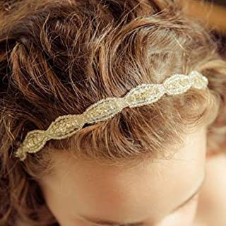 FXmimior Flower Girl Wedding Crystal Rhinestones Headband Hair Accessories Headwear