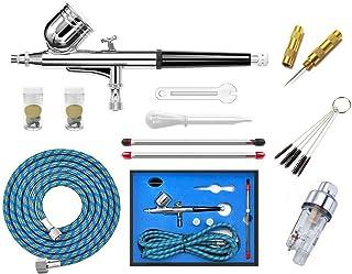 manguera de aire y soporte para aer/ógrafo 0,35 mm 0,8 mm ABEST Airbrush Multiusos Profesional Aer/ógrafo con 3 aer/ógrafos en 0,3 mm acoplador r/ápido
