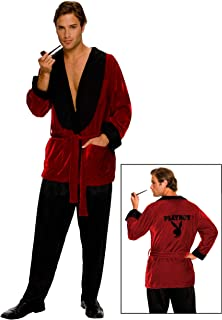 Secret Wishes Costume Playboy Smoking Jacket, Hef, Standard