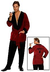 Secret Wishes Men's Playboy Smoking Jacket, Hef, Standard