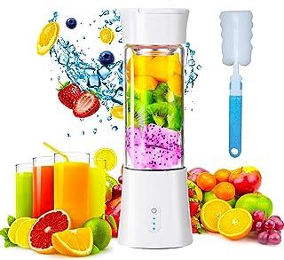 ZJZ Mini mélangeur portatif, Machines électriques Rechargeables d'USB de mélangeur de Fruits, Taille personnelle de 380ml