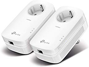 TP-Link TL-PA8010P KIT - 2 Adaptadores de Comunicación por Línea Eléctrica (AV 1300 Gigabit, PLC, Extensor, Repetidores de Red, Cobertura Internet, 2 Puerto, Enchufe, Nintendo Switch)
