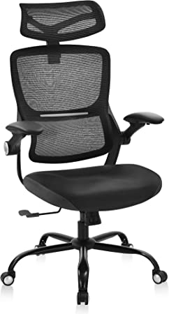 Ergonomic Office Chair, High Back Mesh Desk Chair with Lumbar Support and Tilt Function