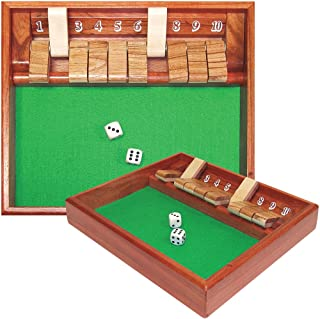 Trademark Poker Shut The Box Game, 10 Numbers