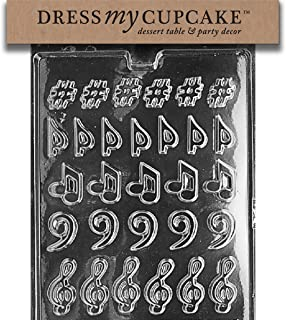 Dress My Cupcake Chocolate Candy Mold, Music, Music, Music