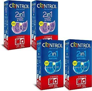 comprar comparacion CONTROL Kit de 4 cajas de preservativos 2in1: 2 cajas Nature + 2 cajas Touch&Feel, 24 ud. - 12 kits que contienen 1 preser...