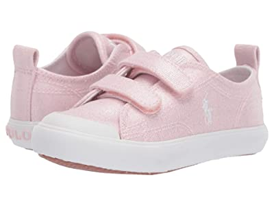 Polo Ralph Lauren Kids Kingsley EZ (Toddler) (Light Pink Shimmer Canvas/White Pony) Girl
