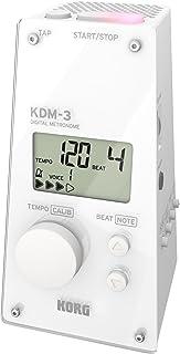 KORG メトロノーム KDM-3 WH ホワイト 個人練習 パート練習 アンサンブル練習に最適 大音量 120時間連続稼働 軽量 コンパクト 持ち運び
