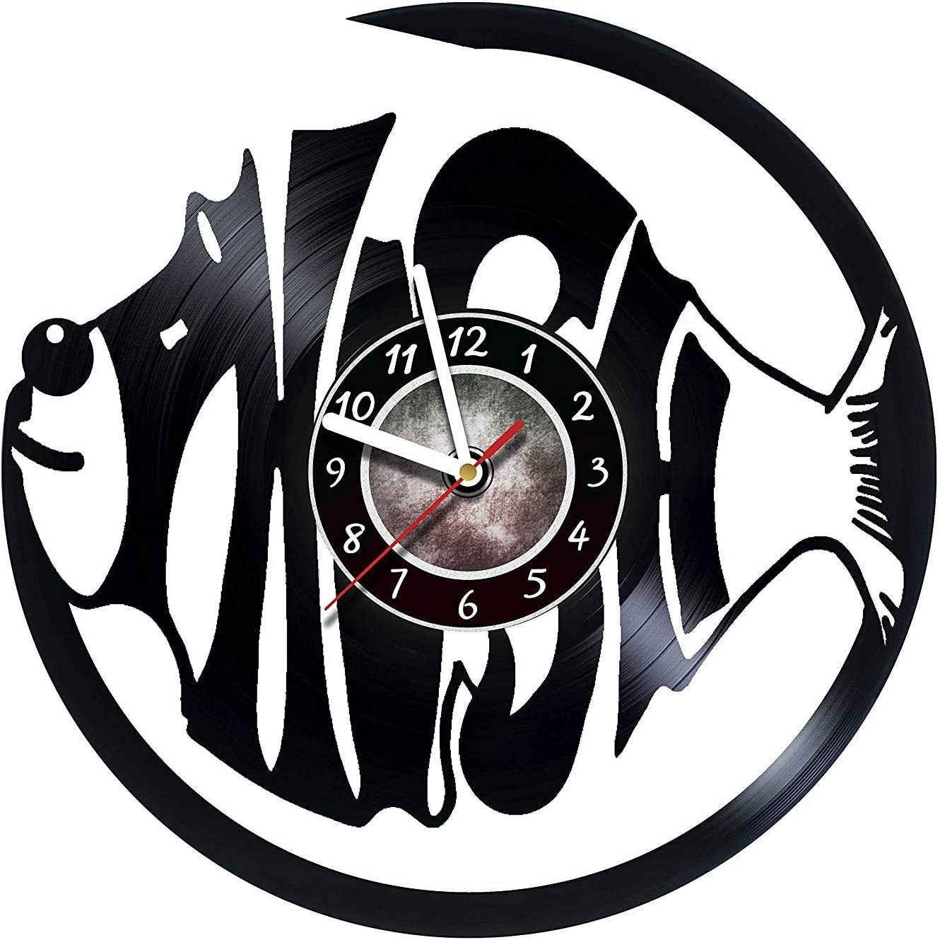 Wall Clock Compatible with Phish - Vinyl Wall Clock - Gifts Presents for Birthday, Christmas, Ideas for Boys, Girls, Men, Women, Adults, him and her - Sport Unique Art Design