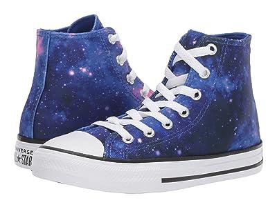 Converse Kids Chuck Taylor(r) All-Star(r) Miss Galaxy Print Hi (Little Kid/Big Kid) (Hyper Royal/Mod Pink/White) Girls Shoes