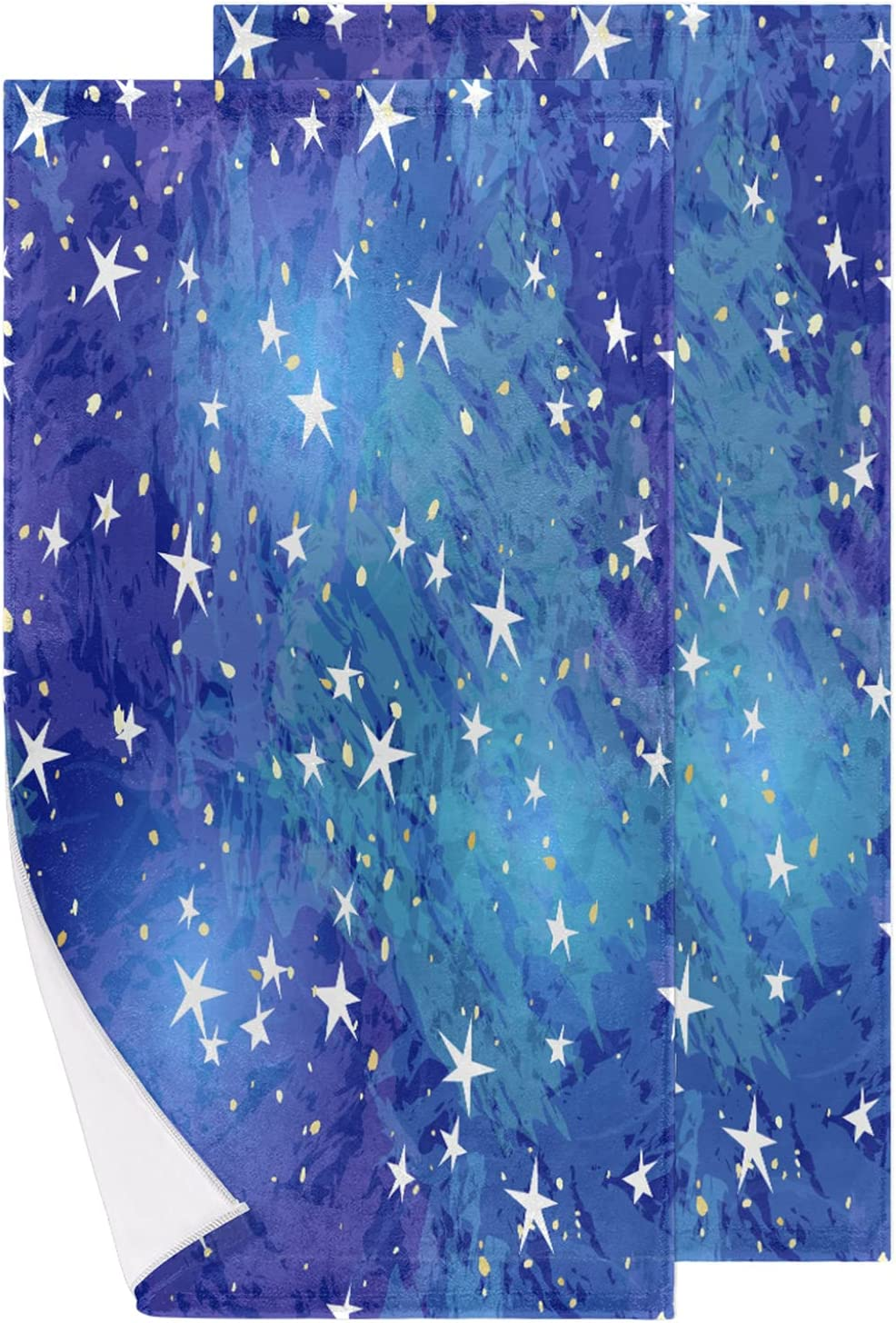 Starry Sky Hand Towels Set Cheap bargain Bath Soft of 2 Kitc Limited price