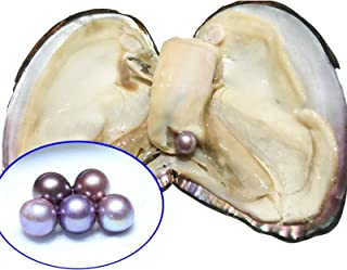 HENGSHENG 1 PC Oyster with Big Edison Pearl Inside AAA 10-13 mm Edison Pearl White Pink Purple Random Color Pearl Oyster