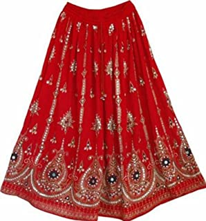 Dancers World Ltd UK Seller Atemberaubende Damen Indische Boho Hippie Zigeuner Sequin Sommer Sommerkleid Maxi Rock M L