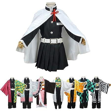 【yukimaturi】鬼滅の刃 栗花落 カナヲ(つゆり かなを)衣装 子供 コスプレ キッズ kids 衣装 着物 仮装 コスチューム イベント 学園祭、文化祭cosplay 子供用 こどもの日