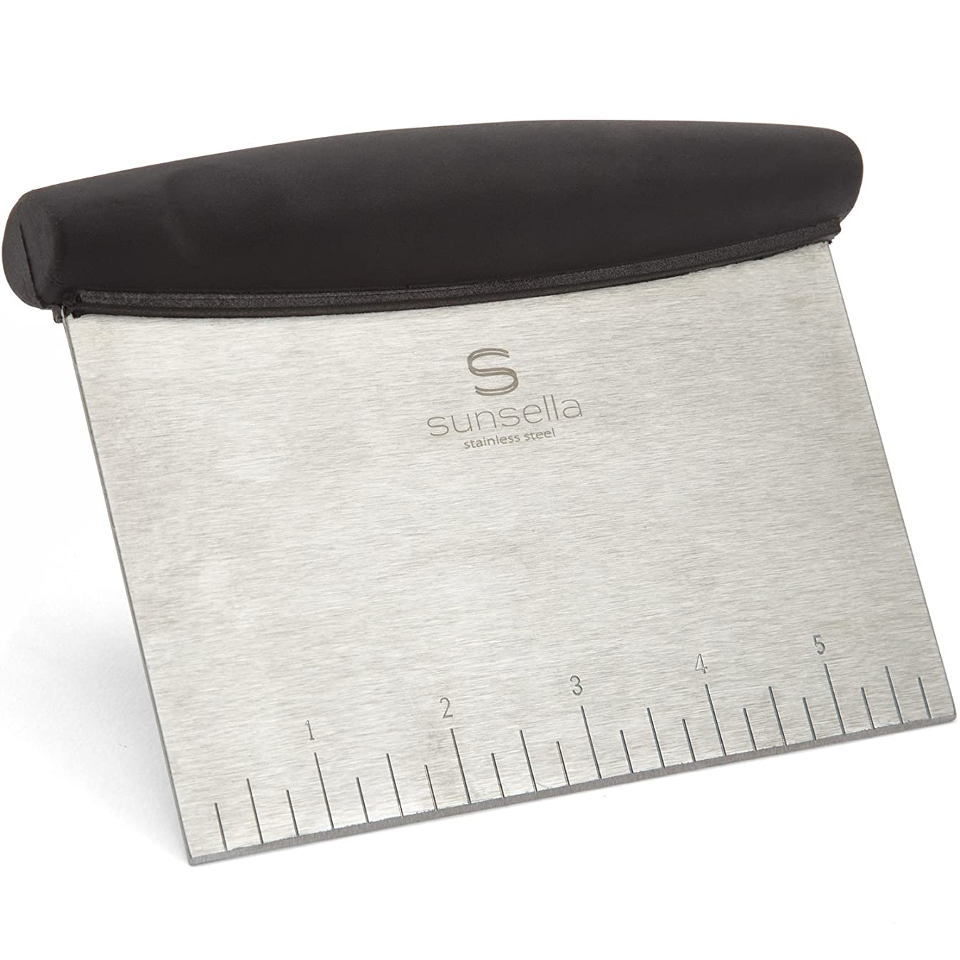 Heavy Duty Stainless Steel - Multi-Purpose, Pastry/Bench Scraper & Chopper With Ruler.By Sunsella
