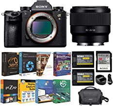 Sony Alpha a9 Full Frame Mirrorless Camera with 50mm f/1.8 Lens, Software Suite and Accessory Bundle (6 Items)