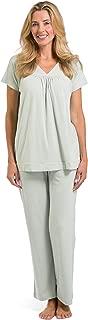 Women's Ecofabric Pajama Set; Short Sleeve Top & Full Length Pant