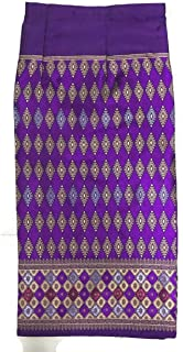 Thai Fabric Traditional Asian Style Warp Skirt Sarong Free Size (with Hook for DIY)