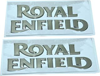 Enfield County Pair Royal Enfield Petrol Fuel Tank Golden Logo Badge Emblem Monogram