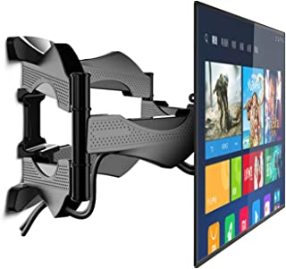 CIKO Wieszak na telewizor LCD, chowany obrotowy uchwyt ścienny, uchwyt do mocowania na ścianie TV, może obsługiwać większo...