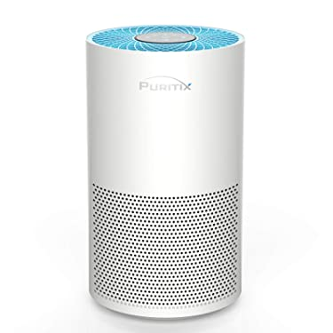 PURITIX Air Purifier with True HEPA, 23dB Quiet Desktop Home Air Purifiers with Timer, Child Lock for Pollen, Smoke, Dust Pet Dander, Odors, blue, small (HAP260)