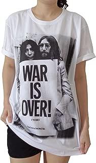 Women's War is Over John Lennon Yoko ONO Short Sleeve T Shirts