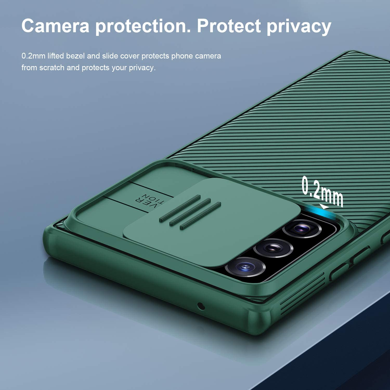 Nillkin Samsung Galaxy Note 20 Ultra Case, CamShield Pro Series Case with Slide Camera Cover, Slim Stylish Protective Case for Samsung Galaxy Note 20 Ultra 5G - Green