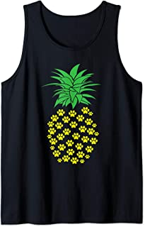 Dog Paw Pineapple Pet Lovers Ananas Vacation Travel Tank Top