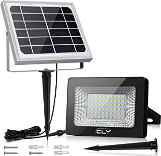 comprar comparacion Foco Solar CLY 60 LED Luz Solar Lámpara Solar Exterior 60 LED con Batería 4000mAh Panel Solar ENCENDIDO/APAGADO Automática...