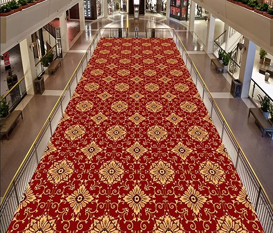 Mbd Corridor Carpet Non-Slip Absorbent 3D Running Carpet, Stair Kitchen and Entrance Soft, Absorbent Custom (Color : D, Size : 1.28m)