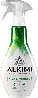 ALKIMI 4 Pack 500 ml Glass/Window Cleaner with Mint Extract and Aniseed, 2000 milliliters, Pack of 4