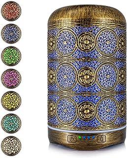 Bligli Essential Oil Diffuser, Metal Vintage Essential Oil Diffusers 250ml, Aromatherapy Diffuser with Waterless Auto Shu...