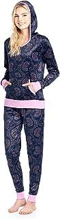Ashford & Brooks Women's Mink Fleece Hoodie Pajama Set