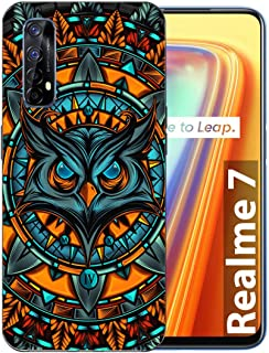 Shopezzz Bazaar Angry Owl 3D Printed Hard Mobile Back Cover Case for Realme 7