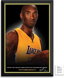 Daniel Parry International Inc. Kobe Bryant Facsimile Signed/Autographed Quote Los Angeles Lakers - Framed Museum Canvas S...