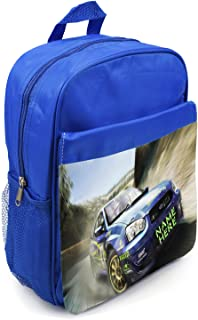 Boys Backpack Car School Bag Childrens Kids Rucksack Personalised ST465