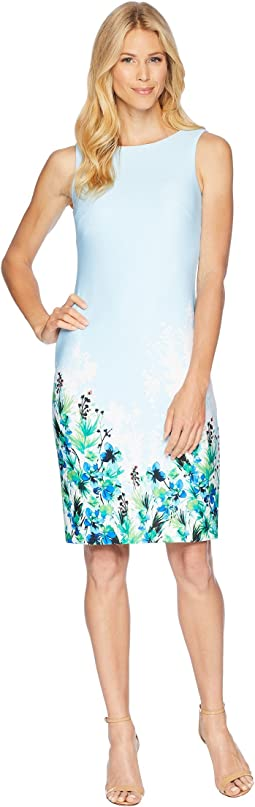 Calvin Klein Floral Placement Sheath Dress CD8M61JT