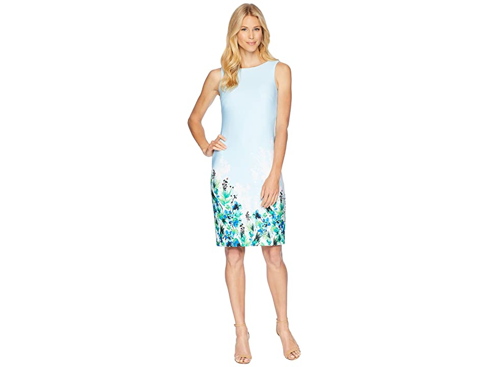 Calvin Klein Floral Placement Sheath Dress CD8M61JT (Regatta Multi) Women