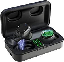 Bluetooth Earbuds, True Wireless Earbuds IPX7 Waterproof Bluetooth 5.0 Headphones 65H Cycle Playtime HD Stereo Sound Wireless Headphones Built-in Mic Noise Canceling Headset for Work/Travel (Black)