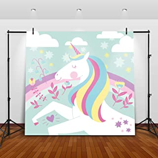 Unicorn Photo Booth Backdrop - Perfect Party Decoration for Girls Birthday, Baby Shower, 1st Birthday   Rainbow Photo Boot...