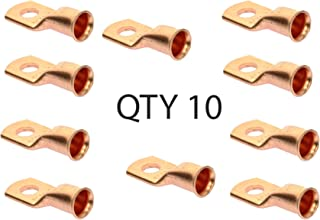 Voodoo (10) - 1/0 Gauge 1/0 AWG x 5/16 inch Copper Lug Battery Cable Terminal Connector