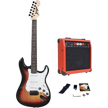 Johnny Brook Electric Guitar Kit with 20W Amplifier (FULL KIT) (Sunburst)