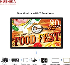32inch Interactive Digital Signage TV, HUSHIDA 1080p 10-Point Multi Infrared Touch Screen Commercial Full HD Display Monitor