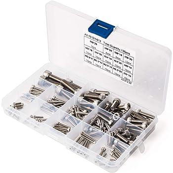 Viti a testa cilindrica ISO 4762 Acciaio inox A2 Viti cilindriche con esagono incassato DIN 912 inossidabile Viti filettate