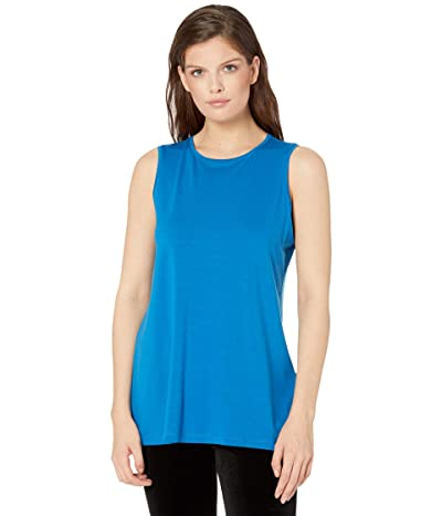 Eileen Fisher Crew Neck Long Tank (Marne) Women
