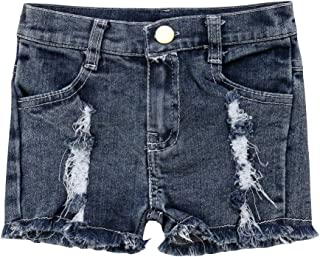 LXXIASHI Toddler Kids Baby Girls Ripped Denim Shorts Distressed Trousers Hole Button Jeans High Waist Skinny Pants