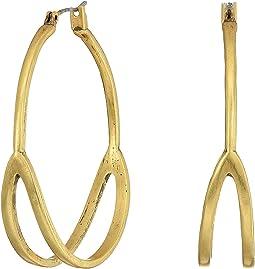 Lucky Brand - Gold Split Hoop Earrings