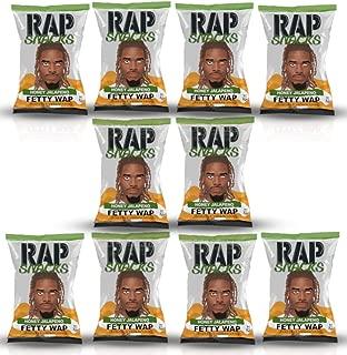 Rap Snacks 1 oz Potato Chip Bags (Fetty Wap Honey Jalapeno, 10 Pack)
