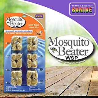 Bonide (BND549) - Mosquito Beater WSP Larvicide, Water Soluble Insecticide Pouches for Controlling Mosquito Larvae (24 pack)