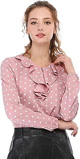Best pink ruffle blouse long sleeve Reviews